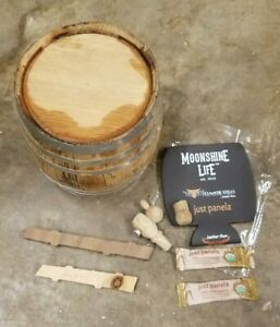 NEW 2 Liter American Oak Bourbon Whiskey Moonshine Aging Barrel Med Char + GIFTS