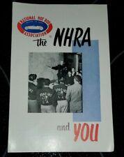 VINTAGE NHRA Membership Brochure National Hot Rod Association 50's - 60's