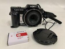 Sony Cyber-shot DSC-H10 8.1MP Digital Camera - Black Bundle w Battery
