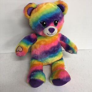 "Build A Bear Rainbow Friends Bear 17""Tie Dye Tagged 2018"