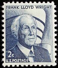 1966 2c Frank Lloyd Wright, American Architect Scott 1280 Mint F/VF NH