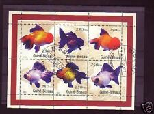+3031+ TIMBRE GUINEE-BISSAU   BLOC POISSONS  2001