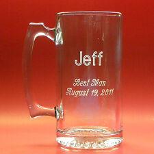 Groomsman Beer Mug - Large 26 oz. Glass - Personalized, Engraved Wedding Gift