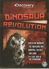 DINOSAUR REVOLUTION - 3 DVD BOX SET -  LAST DAY OF THE DINOSAURS & MORE