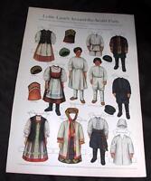 VTG 1910 LETTIE LANES AROUND WORLD PARTY RUSSIAN PAPER DOLLS LADIES HOME JOURNAL