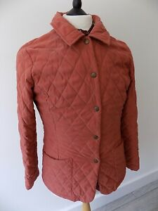 """BARBOUR womens QUILTED FITTED BURNT ORANGE COUNTRY JACKET BLAZER 10   36"""""""