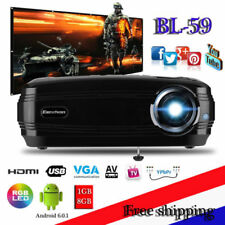 NUOVO Android6 200'Projector 3D 1080P WiFi Bluetooth 1G+8G ATV Video Proiettore