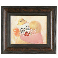 """""""Daddy The Clown"""" By Anthony Sidoni 1999 Signed Oil on Canvas 8""""x10"""""""