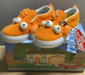 Vans x The Simpsons BLINKY fish Slip-on Toddler SZ 4.5T New In Hand Limited