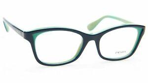 New Prada VPR05P OAB-1O1 Blue Turquoise RX Prescription Eyeglasses 52mm Italy