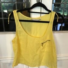 Zara:yellow singlet top in cotton/silk blend sz EUR M/US M/Mex 28-SALE/free post