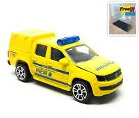 Majorette Volkswagen VW Amarok Yellow INEM Portugal Ambulance 1/65 no Package