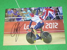 Sir Chris Hoy Signed London 2012 Olympic Velodrome Action Photograph
