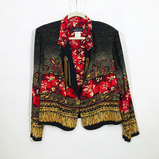 EUC Carole Little Petites Vintage Boho Jacket Size 12P Made in USA