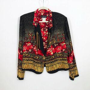 EUC Carole Little Petites Vintage Boho Jacket Size 12P Made in USA