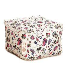 Style Homez Square Canvas Abstract Printed Bean Bag Ottoman Stool Large Cover