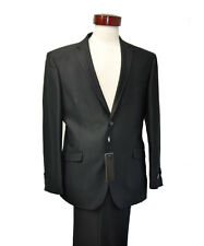 Men's black shining formal slim fit suit ( 40 R / 34 )
