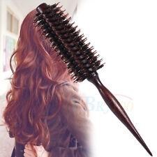 Pro Brosse à cheveux en bois ronde antistatique Brosse à Cheveux Ronde Brushing