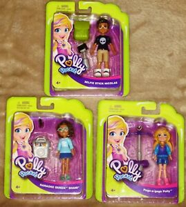 Polly Pocket 3 Figures - Polly Nicholas & Shani New!