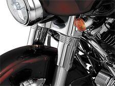 Kuryakyn Chrome Front Upper Fork Slider Covers Pair Set Harley Touring 8635