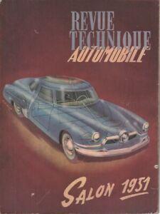 REVUE TECHNIQUE AUTOMOBILE 66 RTA 1951 SALON DE L'AUTOMOBILE SALON DE L'AUTO 51