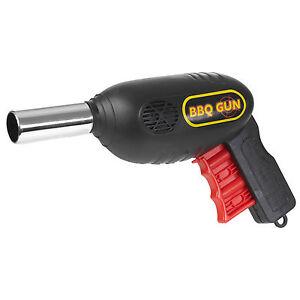 BBQ Grill Fan Gun Bellows Barbecue Fire Air Blower Outdoor Camping Flame Light