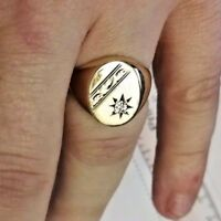 Gold and Diamond Signet ring - 9ct gold, Full Hallmark. 3 Day Listing FLASH SALE