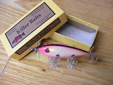 Killer Baits Rusty Jessee Heddon 300 Style Glasseye 5 Hooker Hot Pink Gold scale