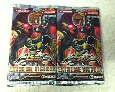 2X YuGiOh 5D's Extreme Victory 9-Card Booster Pack English 1st Edition Sealed