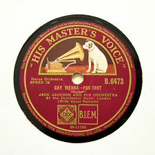 "JACK JACKSON ORCHESTRA ""Gay Vienna / What's Good For The Goose"" (E+) HMV [78]"
