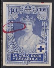 Spain ScB9 Red Cross, Queen Victoria Eugenia, Imperf Proof