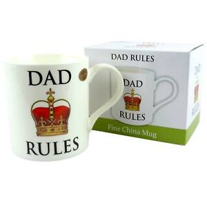 China Dad Rules Mug/Cup by The Leonardo Collection Gift Boxed Fathers Day