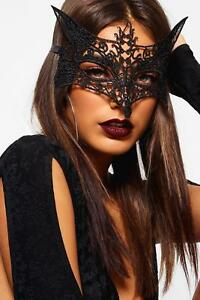 Ladies Eye Face Mask Foxy VENETIAN MASQUERADE HALLOWEEN PARTY LACE FANCY DRESS