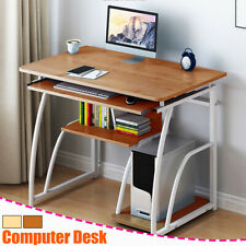 2 Types Computer Desk Study Coffee Table Wooden Laptop Office Home Bookshelf