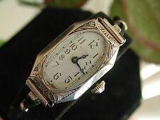 1930's Ladies Art Deco Enamel Waltham Watch  ~  Runs