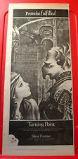 "Turning Point Silent Promise Vintage Orig 1978 Press/Magazine Advert 17.5""x 7.5"""