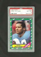 1986 Topps #252 Jimmy Williams Detroit Lions PSA 8 NM-MT