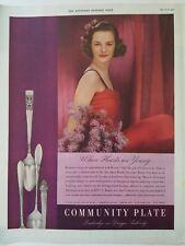 1937 Gemeinschaft Platte Silverware Berkeley Platz Coronation Lady Hamilton Ad