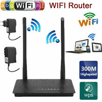 300Mbps Wireless Router WiFi Repeater Extended Range 4 x 10/100M LAN Port 13CH