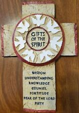 Gifts of the Spirit Cross wall plaque