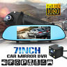 "7""1080P Dual Lens Car DVR Dash Cam Vehicle Rearview Mirror Video Camera Recorder"