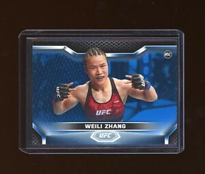 2020 Topps UFC Knockout RC Rookie 01/75 Blue Parallel Weili Zhang