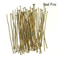 Wholesale Gold Silver Head/Eye/Ball Pins Finding 21/24 Gauge 100pcs 15mm-70mm
