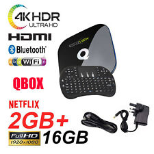Q-Box Android 6.0 TV Box KD 17.3 Media Player 2+16GB 5Ghz WIFI Mini Keyboard