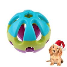 Plastic Cat Dog Puppy Jingle Ring Bell Ball Round Pet Trainng Chewing Toy 7cm