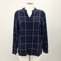 BARBOUR Blue Checked Relaxed Fit Shirt Winter Tartan Women's Size UK 12 371324