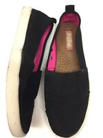 Mad Love by Steve Madden Women's Black Canvas Slip-On Shoes Size US 8 101