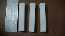 3 CHIMNEYS style #1  ,CAST RESIN ,O,ON30 , ON3 , UNPAINTED
