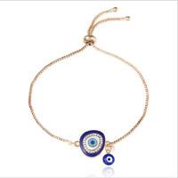 Elegant Fashion Women Crystal Eye Gold Chain Bracelet Charm Cuff Bangle Jewelry