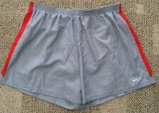 * Nike Mens Size XXL 2XL Gray Athletic Dri Fit Lined Running Shorts 519704 066